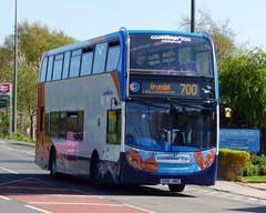 Stagecoach Southdown 15598 (GX10 HBG) Arundel 13/4/14 (jmupton2000) Tags: uk bus sussex worthing south 400 coastline alexander dennis 700 stagecoach scania enviro southdown coastliner gx10hbg
