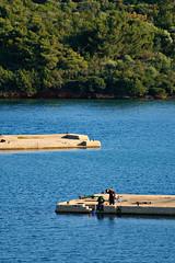 Fishing (drymna) Tags: daylight fishing fisherman greece figures
