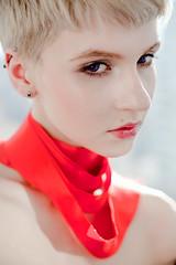 170414_6_sm (M45Tau) Tags: red portrait sun sunlight girl fashion head blonde glam gaze androgyny