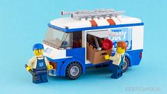 Joe's Plumbing [MOC] (stavos) Tags: truck canon 50mm flying lego joe plumber build apprentice alfie flusher moc 550d legography 70811 stavosnl