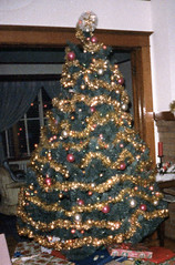 My grandma's Christmas tree (the queen of subtle) Tags: christmas family michigan archive 1985 menominee scancafe