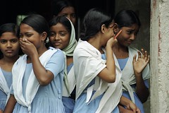 Students laugh as they leave school (World Bank Photo Collection) Tags: school students smile smiling education group laugh laughter bangladesh worldbank southasia
