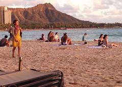 Waikiki  - Beach at Sunset - 2017 (tonopah06) Tags: diamondhead royalhawaiian hawaii hi 2017 iphone image waikiki beach