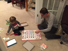 "Daddy and Paul Play Matching Bingo • <a style=""font-size:0.8em;"" href=""http://www.flickr.com/photos/109120354@N07/32957415022/"" target=""_blank"">View on Flickr</a>"