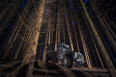 No way out (Martin Zurek) Tags: canon5dsr canon defender landrover rover land landscape irsee zeiss distagon distagont2815 ze night nightphotography adventure travel traveller bluehour illumination outdoor forest tree trees winter