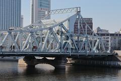 Tianjin - Jiefang (Liberation) Bridge (Bruce in Beijing) Tags: jiefangqiao liberationbridge engineering internationalbridge pivotaldrawbridge haiheriver concessionareas wanguobridge zhongzhengbridge girders transport navigation