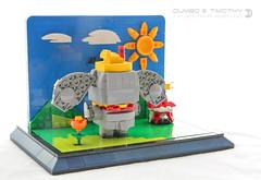Dumbo & Timothy (dvdliu) Tags: lego moc brickheadz dumbo disney timothy crows blockhead