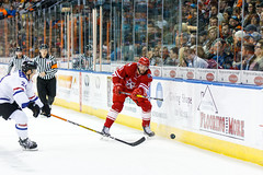 """Missouri Mavericks vs. Allen Americans, March 3, 2017, Silverstein Eye Centers Arena, Independence, Missouri.  Photo: John Howe / Howe Creative Photography • <a style=""""font-size:0.8em;"""" href=""""http://www.flickr.com/photos/134016632@N02/33232471726/"""" target=""""_blank"""">View on Flickr</a>"""