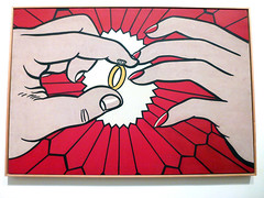 Roy Lichtenstein (paul nine-o) Tags: london art advertising paint acrylic hand fineart fingers tatemodern ring canvas exhibitions handpainted oil weddingring roylichtenstein aretrospective bendaydot comicdtrip