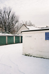 (Steeeve Messer) Tags: urban white snow color colour london film home analog 35mm garage steve messer analogue press clapham yashica steamy t4 steeeve renegatus brokebroadbeat