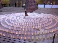 Liverpool Cathedral, Light Night (Dradny) Tags: food candles liverpoolcathedral lightnight2013