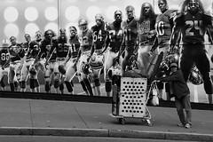 Another home run (Mr. Pebble / Bildwerfer) Tags: california football kalifornien people sanfrancisco streetphotography streetfotografie usa canon candid city vereinigtestaaten united states street strase billboard nike monochrome blackwhite schwarzweis downtown home run urbanarte
