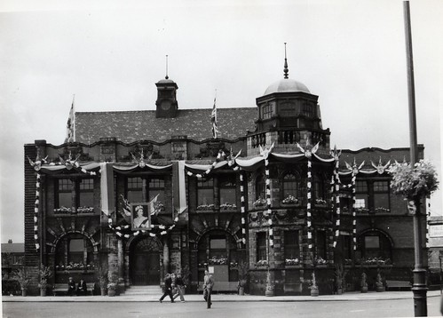 The Library, decorated, 1953
