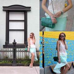 this is paradise look (Natalie Ast) Tags: toronto west green car fashion vintage shopping this graffiti frozen is blog downtown paradise purple district mint style skirt blogger canadian queen purse clutch accessories yogurt zara snakeskin froyo yogurtys