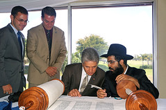 New Torah Dedication at the Chabad of Southwes...