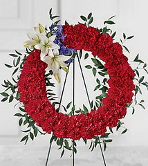 FTD To Honor Ones Country Wreath (dobdeals.com) Tags: flowers wreaths eventsupplies