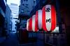 Tokyo Kinshicho Lampion Lanterns (lasse.schuldt) Tags: blue red white japan bar night outside restaurant tokyo evening asia east lantern lampion kinshicho