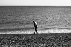 luke (Lucid Delirium) Tags: boy sea portrait england blackandwhite bw white man black beach canon movement brighton britain minimal 60d canon60d