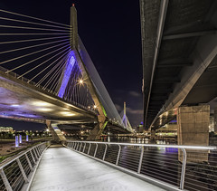 Leonard P. Zakim Bridge .::HDR::. (Wolf*gang) Tags: longexposure usa boston photoshop canon nightshot newengland hdr eos1d beantown zakimbridge lightroom digitalblending canon1dx me2youphotographylevel2 me2youphotographylevel3 me2youphotographylevel1 e2youphotographylevel1