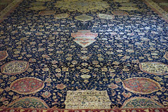 Ardabil Carpet, detail with lamp