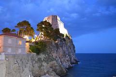 Lovrijenac Fortress (cwgeorge23) Tags: sea castle water night croatia fortress dubrovnik adriatic hrvatska lovrijenac lovrijenacfortress