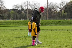Girl with Coach Soccer Parks and Rec Grand Rapids May 04, 2013 6 (stevendepolo) Tags: park girl youth coach mckay with soccer parks grand rapids rec jaycees lourdie