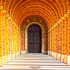 The Door at the end of the archway (Sharon Dow Photography) Tags: door uk school england building sussex nikon arch shadows westsussex britain bricks archway horsham ch boardingschool 16thcentury bluecoats housey publicschool christshospitalschool nikond7100 sharondowphotography photoshopcc christshospital britishindependentschool