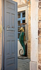 denizatı / seahorse (kytmaz) Tags: sea animal creativity seahorse symbol good father santorini luck oia denizatı