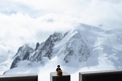 Travels of badger - Mont Blanc (enigmabadger) Tags: france alps switzerland lego geneva fig swiss minifig custom chamonix minifigure brickarms