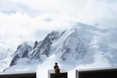 Travels of badger - Mont Blanc (enigmabadger) Tags: france alps switzerland lego geneva fig swiss minifig custom chamonix minifigure brickarms