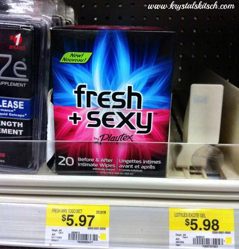 Playtex Fresh and Sexy Wipes Walmart #shop