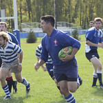 """<b>Luther Men Rugby vs Alumni</b><br/> Luther Rugby vs Alumni game at the homecoming 2013 - Photo taken on Saturday, October 5 by Maria da Silva<a href=""""http://farm4.static.flickr.com/3776/10104235885_8c58d2cfa4_o.jpg"""" title=""""High res"""">∝</a>"""