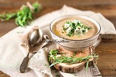 Mushroom Cream Soup (AlenaKogotkova) Tags: food mushroom cheese lunch soup yummy mushroomsoup herb foodphoto creamsoup foodstyling