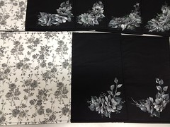 Americano floral cinza com preto e pintado  mo!!! (Gisele Iensen) Tags: patchwork cozinha pintura americano