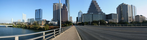 Downtown Austin from Congress St Bridge