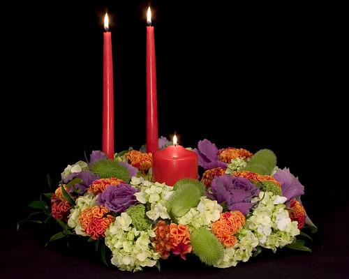 Thanksgiving Triad — Leanne and David Kesler, Floral Design Institute, Inc., in Portland, Ore.