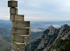 Montserrat view down (ericy202) Tags: mountain spain basilica monastery montserrat