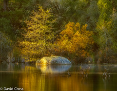 Gold Country (buffdawgus) Tags: california autumn lake fall northerncalifornia reflections landscape rocks nevadacity autumnleaves foliage goldcountry highway49 nevadacounty sierranevadarange canon70200mm28l sierranevadafoothills canon7d lightroom5 hirschmanpond topazsw hirschmantrail