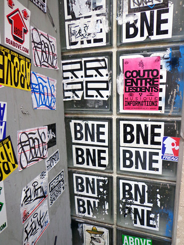 Paris Street Stickers - BNE, Above, Fint, freaQ