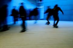 MilanoCity (riccardonava) Tags: stairs underground escape skateboarding milano bluelight