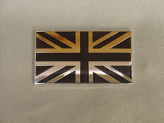 Black and silver Union Jack badge (Phoebe Goes Vroom) Tags: 2002 honda si civic haru ep3