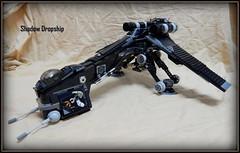 Shadow Dropship (Johnny-boi) Tags: shadow trooper black star republic tank lego arf walker wars custom gunship starfighter dropship