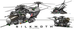 """""""Silkmoth"""" Heavy Attack Helicopter (Garry_rocks) Tags: lego helicopter"""