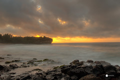 Kauai Sunrise (Dr_Drill) Tags: ocean sunset sky color colour beach colors clouds sunrise hawaii lava nikon rocks waves ship colours shipwreck kauai poipu nikkor wreck hdr d800 1635vr