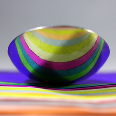 Spoon and Stripes (Crisp-13) Tags: reflection paper colours stripes tissue spoon reflect multi