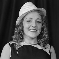 50/365 Jazz hat (garyjones1959) Tags: leica blackandwhite bw monochrome smile hat model jazz rangefinder apo l monochrom trilby 75mm m240 aposummicron