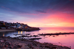 Food for the soul! (Stuart Stevenson) Tags: uk longexposure buildings reflections boats photography dawn lights scotland ancient dusk historic glorious colourful fishingboats 800ad quaint twinkling lobsterpots costal whitewashed earlyinthemorning crail fishingharbour clydevalley eastneukoffife autumnequinox royalburgh redtiledroofs scotlandfife theskysonfire crailharbour canon5dmkii stuartstevenson ©stuartstevenson wwwzerogravitymeuk