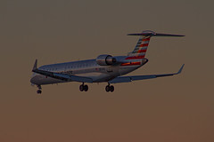 N514AE landing SJC. (ChasenSFO) Tags: sjc americaneagle ae crj envoy canadair crj700 sanjoseairport cr7 ksjc aae egf sanjosenormanminettaairport