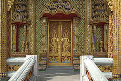 Wat Thung Setthi Ubosot Front Entrance (DTHB1553)    (Gerry Gantt Photography) Tags: thailand temple bangkok wat   prawet totallythailand thailand bangkok prawet prawet  watthungsetthi