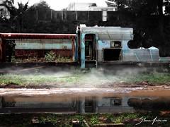 Last train to nowhere (Silvia Andreasi (Images Beyond Mirror)) Tags: reflection art abandoned water ruins surrealism forgotten trainstation squareformat dreamscape botucatu sorocabana conceptualphotography mistiness imagesbeyondmirror silviaandreasi